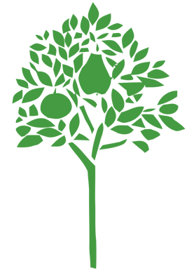 Green tree from Orchard House Vets logo.