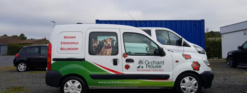 Orchard House Vets van.